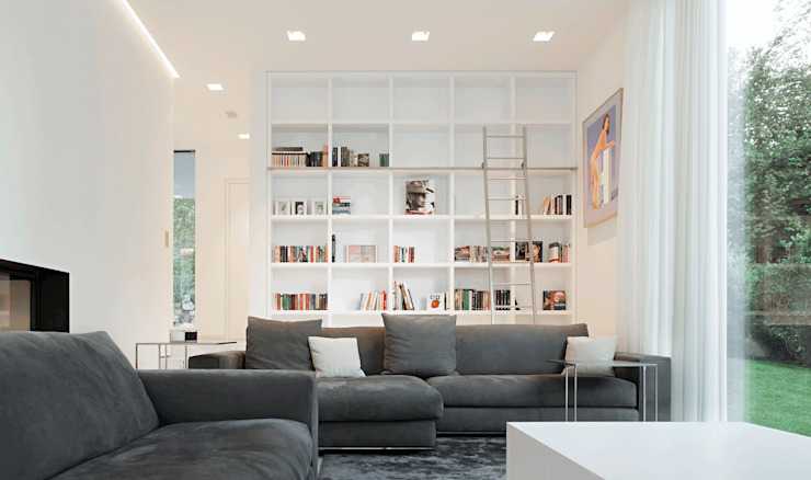Living room by monovolume architecture + design, Modern