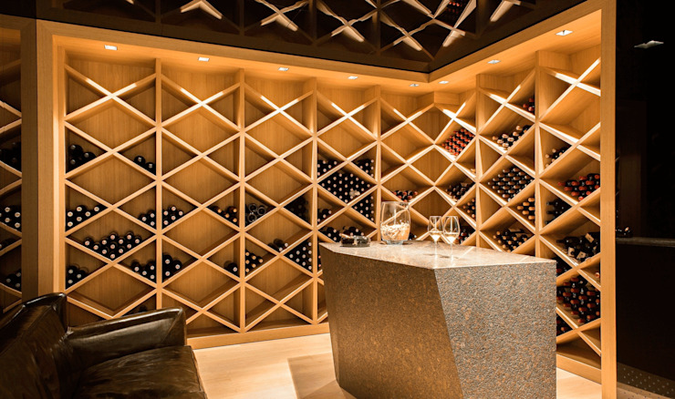 monovolume architecture + design Wine cellar
