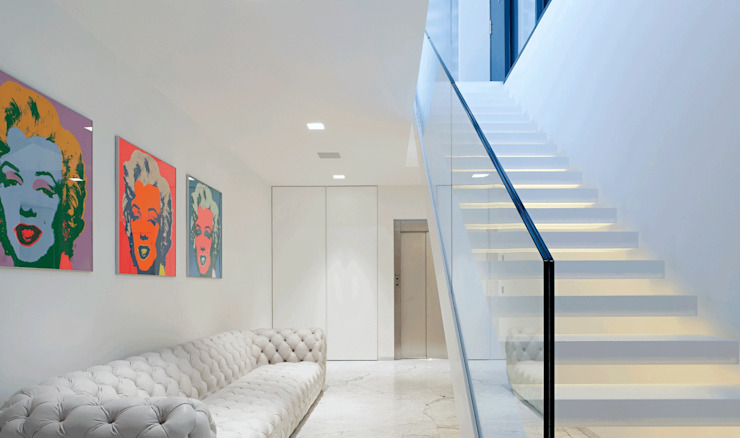Modern Corridor, Hallway and Staircase by monovolume architecture + design Modern