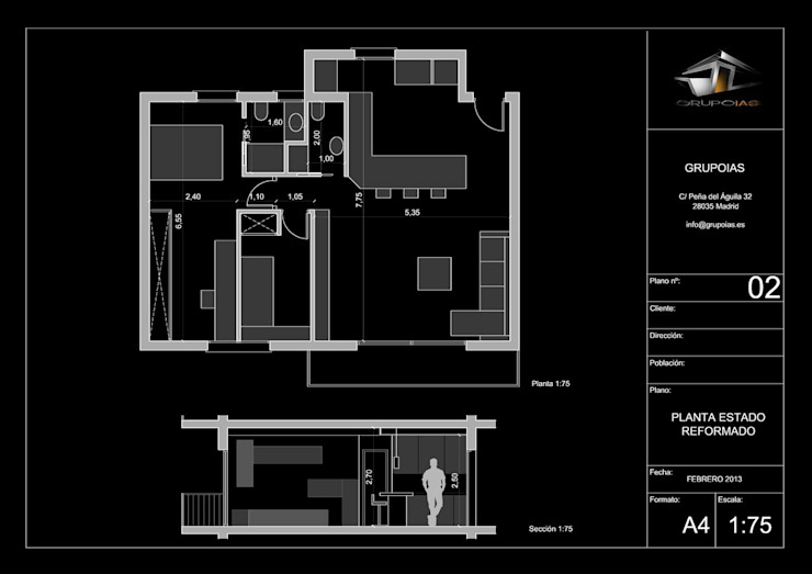 Casas estilo moderno: ideas, arquitectura e imágenes de Empresa constructora en Madrid Moderno
