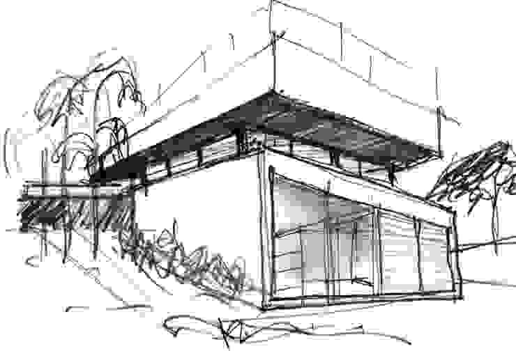 Casas de estilo  por MARIO COREA ARQUITECTURA