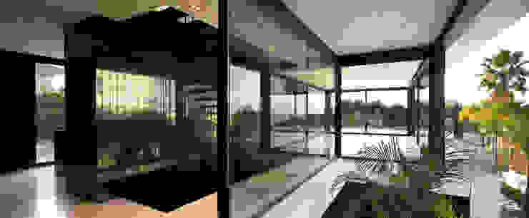 Casa Sevilla Pasillos, vestíbulos y escaleras de MARIO COREA ARQUITECTURA