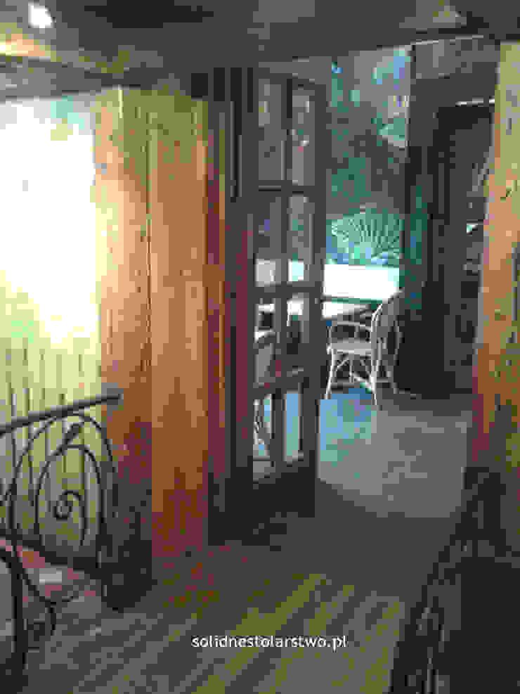 Drzwi drewniane, ręcznie rzeźbione od Zakład Stolarski Robert Latawiec Klasyczny