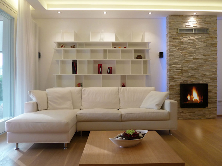 Angolo soggiorno Soggiorno moderno di Studio Massimo Rinaldo architetto Moderno