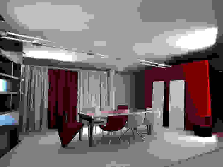 mansarda loft Soggiorno moderno di linea contemporanea home Moderno