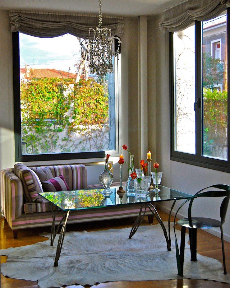 Rincón de café Salones de estilo moderno de Ines Benavides Moderno