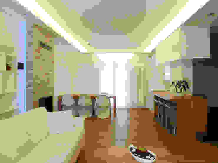 Luce e spazi aperti - rivisitazione di un interno a Ceggia (VE) Soggiorno moderno di Studio Massimo Rinaldo architetto Moderno