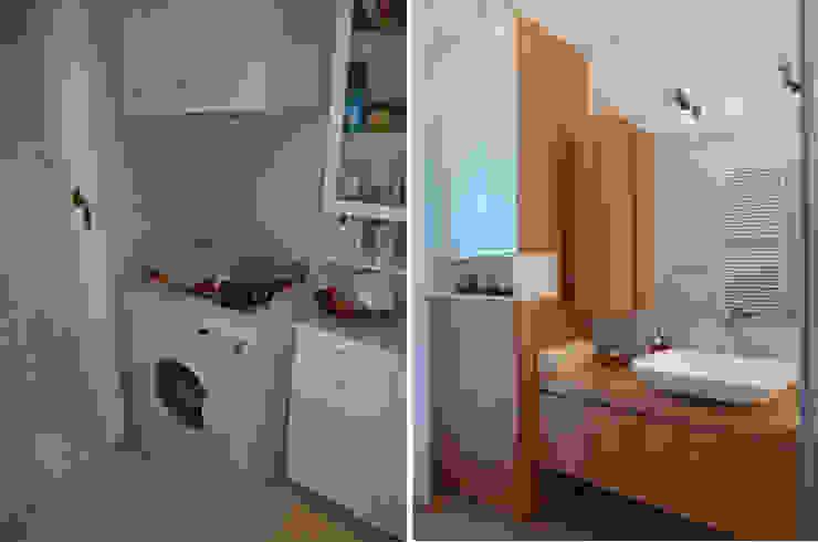 Il bagno-lavanderia Soggiorno moderno di Studio Massimo Rinaldo architetto Moderno