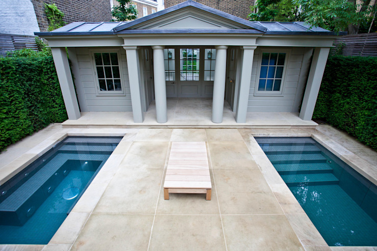 Twin Plunge Pools Piscinas coloniais por London Swimming Pool Company Colonial