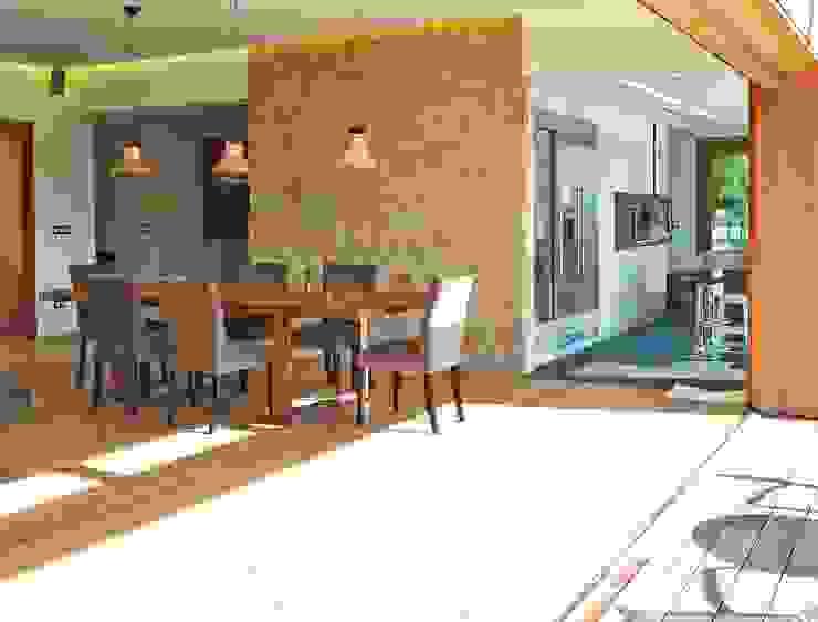 Salas / recibidores de estilo  por HUGA ARQUITECTOS, Rústico