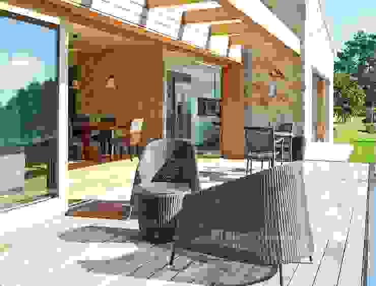 Rustikaler Balkon, Veranda & Terrasse von HUGA ARQUITECTOS Rustikal