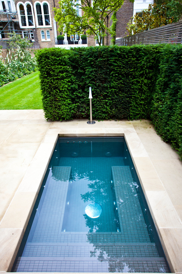Twin Plunge Pools Colonial style pool by London Swimming Pool Company Colonial