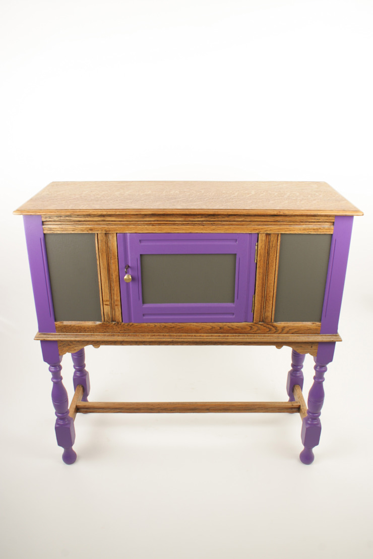 Upcycled vintage oak cabinet: eclectic  by Narcissus Road Furniture Design, Eclectic