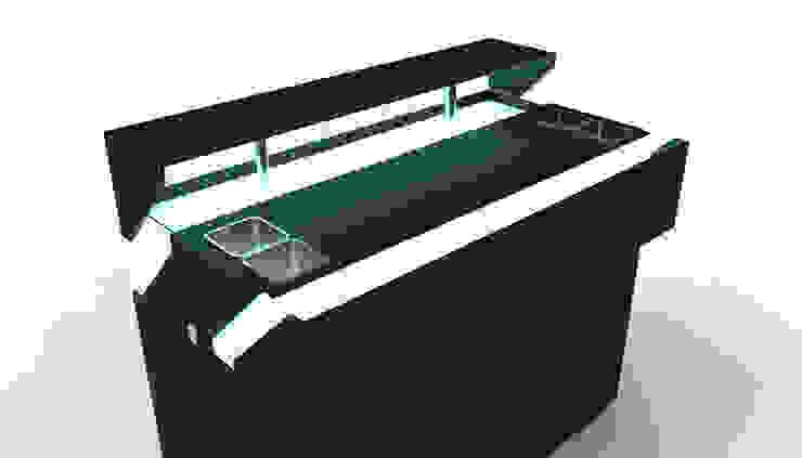 Spritz - Particolare vano portaghiaccio e portabottiglie di Gaudenzio Ciotti - Design Studio
