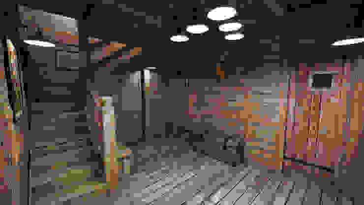Corredores, halls e escadas rústicos por studiosagitair Rústico