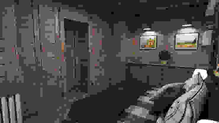 Cascina di Montagna Camera da letto in stile rustico di studiosagitair Rustico