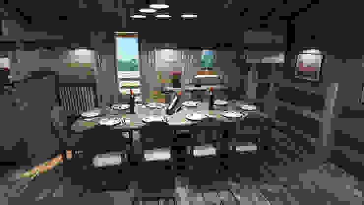 Столовая комната в рустикальном стиле от studiosagitair Рустикальный