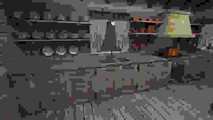 Cocinas de estilo rústico de studiosagitair Rústico