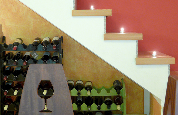 Taverna italiana Sala da pranzo in stile rustico di Designmad Rustico