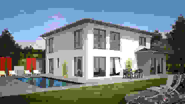 City 205: modern  von Bau mein Haus - eine Marke der Green Building Deutschland GmbH,Modern