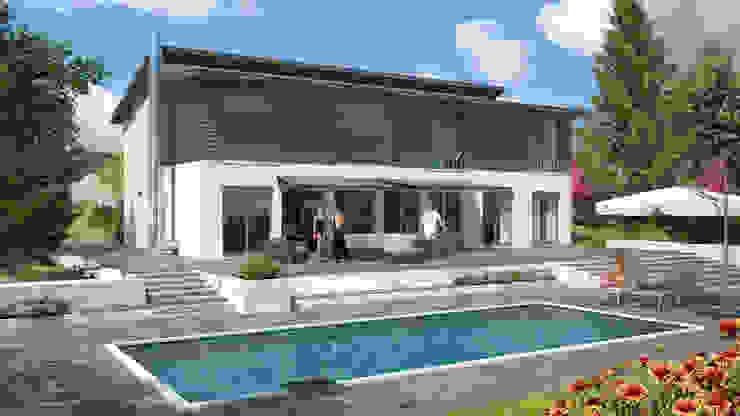 City 263: modern  von Bau mein Haus - eine Marke der Green Building Deutschland GmbH,Modern