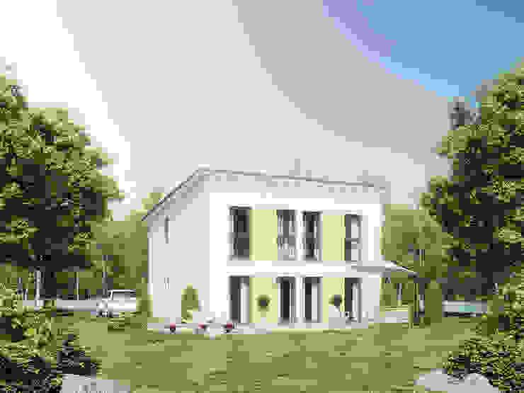 Family 130 Garten: modern  von Bau mein Haus - eine Marke der Green Building Deutschland GmbH,Modern