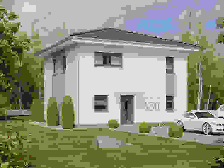 Family 130 Eingang: modern  von Bau mein Haus - eine Marke der Green Building Deutschland GmbH,Modern