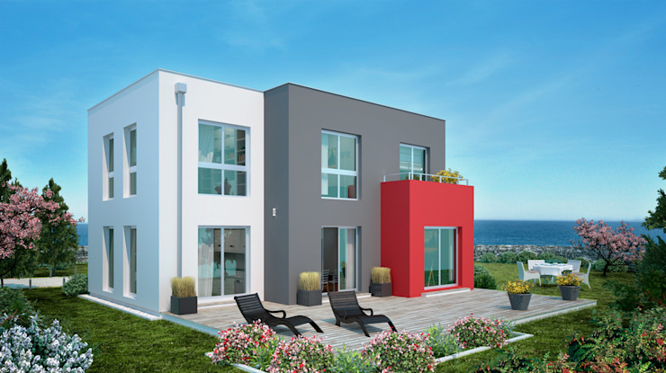 Bauhaus 127: modern  von Bau mein Haus - eine Marke der Green Building Deutschland GmbH,Modern