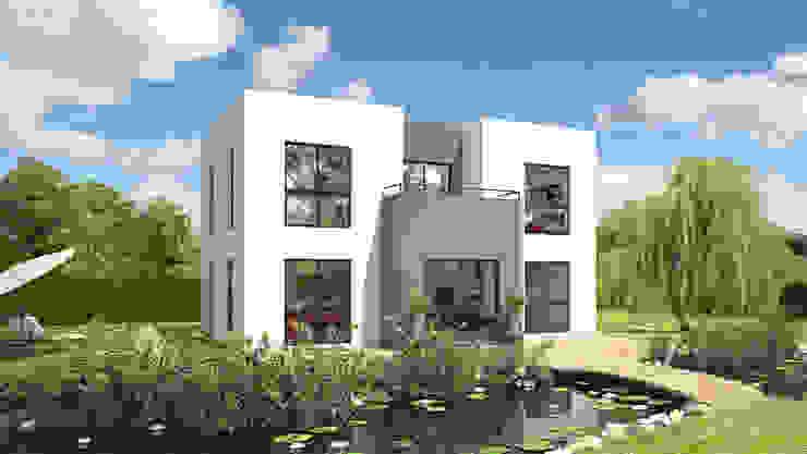 Bauhaus 152: modern  von Bau mein Haus - eine Marke der Green Building Deutschland GmbH,Modern