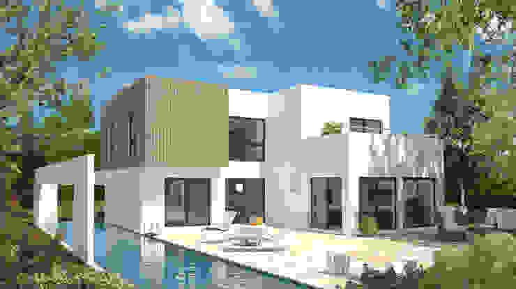 Bauhaus 174: modern  von Bau mein Haus - eine Marke der Green Building Deutschland GmbH,Modern