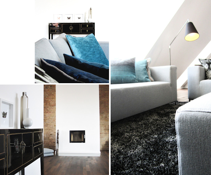 Dachgeschossausbau Berlin Friedrichshain Moderne Wohnzimmer von Büro VonSchöngestalt Modern