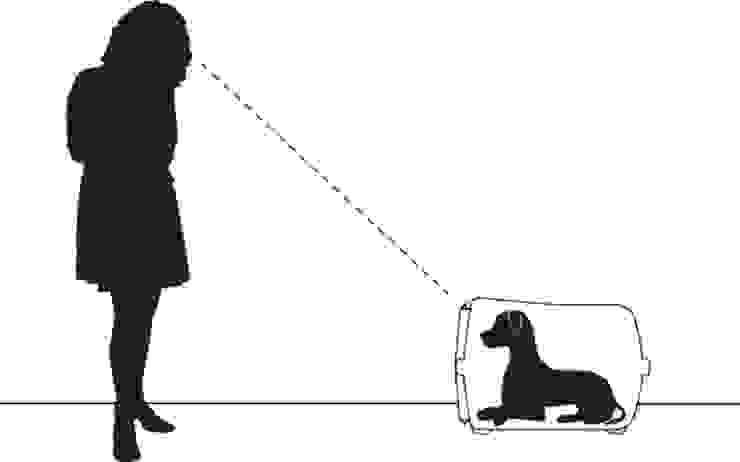 Trasportino Vision - rapporto Cane e padrone di ildoppiosegno Moderno