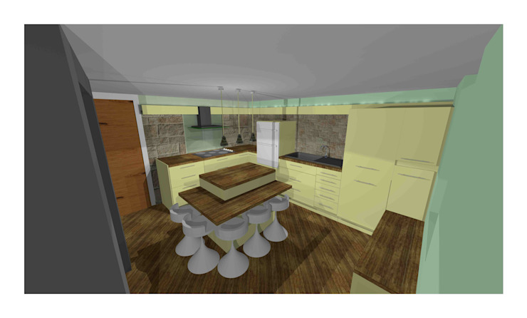 FIRST STAGE CAD DRAWING Modern kitchen by 2A Design Modern