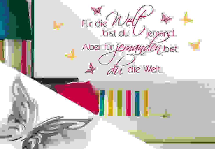 Wandtattoo - Für die Welt... + 3D Deko-Schmetterlinge von K&L Wall Art Ausgefallen
