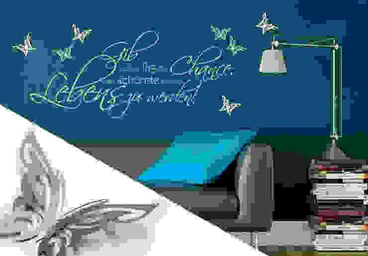 Wandtattoo - Gib jedem Tag die Chance... 2 + 3D Deko-Schmetterlinge von K&L Wall Art Ausgefallen