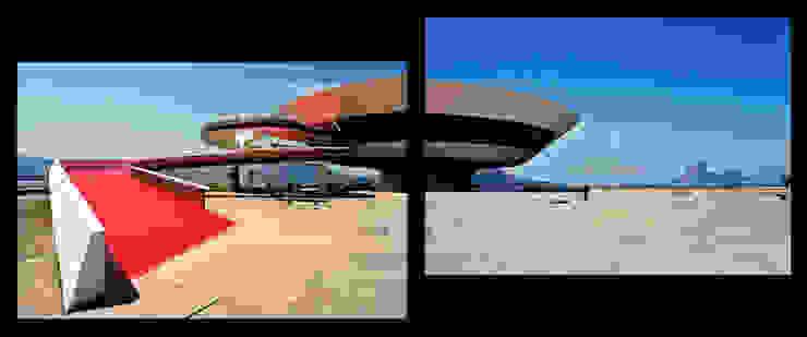 Museo de Arte Contemporaneo en Niteroi.Oscar Niemeyer Museos de estilo moderno de Marcela Grassi Photography Moderno