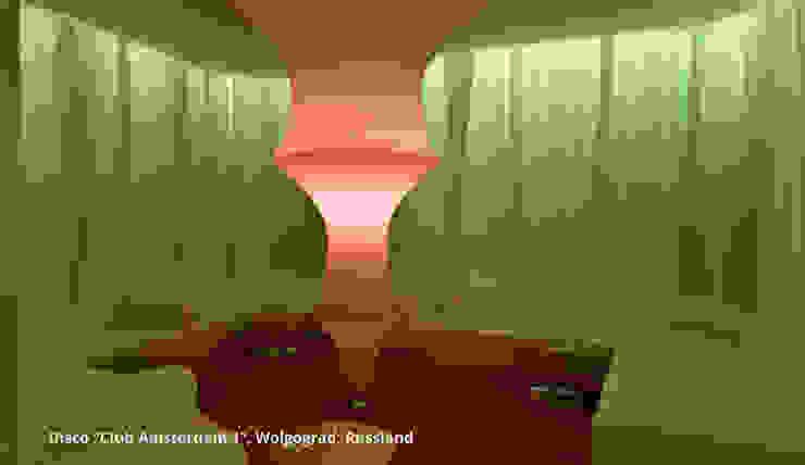 Innenarchitektonische Gesamtkonzeption Disco <q>Club Amsterdam 1</q> – Wolgograd, Russland Moderne Gastronomie von GID│GOLDMANN-INTERIOR-DESIGN - Innenarchitekt in Sehnde Modern