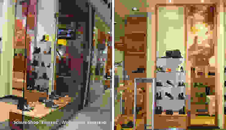 Innenarchitektonische Gestaltung eines Schuhshops <q>Elegant</q> – Wolgograd, Russland Moderne Ladenflächen von GID│GOLDMANN-INTERIOR-DESIGN - Innenarchitekt in Sehnde Modern