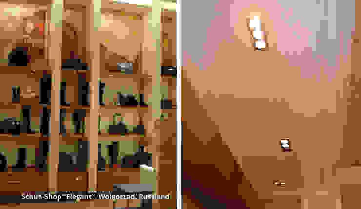"""Innenarchitektonische Gestaltung eines Schuhshops """"Elegant"""" - Wolgograd, Russland Moderne Ladenflächen von GID│GOLDMANN-INTERIOR-DESIGN - Innenarchitekt in Sehnde Modern"""