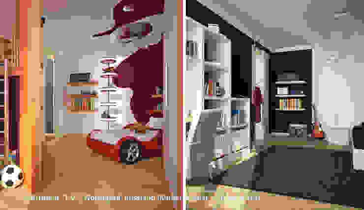 """Innenarchitektonische Neugestaltung Apartment """"T.V."""" - Wolgograd, Russland:  Kinderzimmer von GID│GOLDMANN-INTERIOR-DESIGN - Innenarchitekt in Sehnde,"""