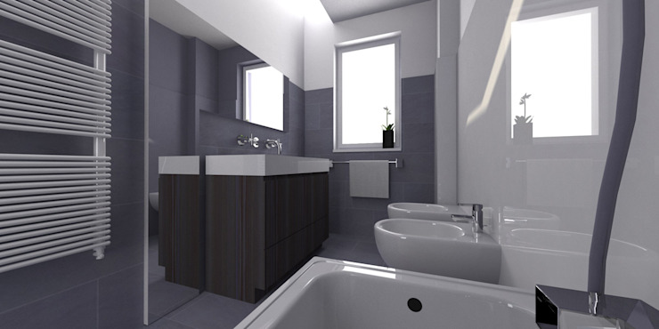 Modern bathroom by CAFElab studio Modern