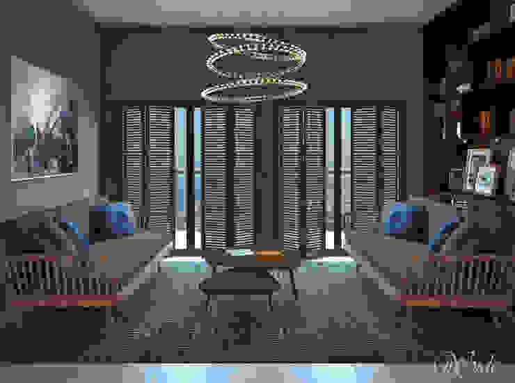 Study/Lounge Living room by Inside Studio Ltd