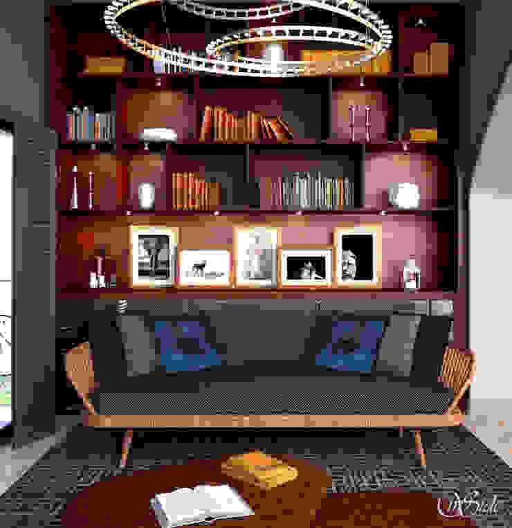 Study Shelves Study/office by Inside Studio Ltd