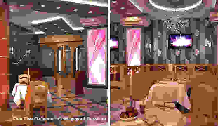 Innenarchitektonische Neugestaltung eines Clubs mit Restaurant <q>Lukomorie</q> – Wolgograd, Russland Klassische Gastronomie von GID│GOLDMANN-INTERIOR-DESIGN - Innenarchitekt in Sehnde Klassisch Massivholz Mehrfarbig