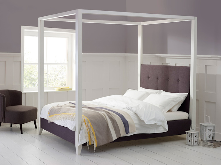 Florence Whitewood Bed de Living It Up Moderno