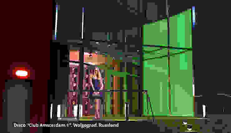 """Innenarchitektonische Gesamtkonzeption Disco """"Club Amsterdam 1"""" - Wolgograd, Russland Moderne Gastronomie von GID│GOLDMANN-INTERIOR-DESIGN - Innenarchitekt in Sehnde Modern Glas"""