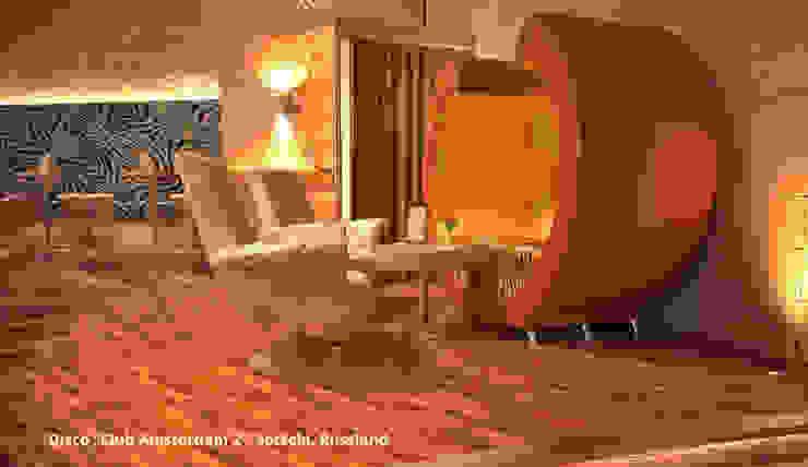 """Innenarchitektonische Gesamtkonzeption Disco """"Club Amsterdam 2"""" - Sotschi, Russland Moderne Gastronomie von GID│GOLDMANN-INTERIOR-DESIGN - Innenarchitekt in Sehnde Modern"""