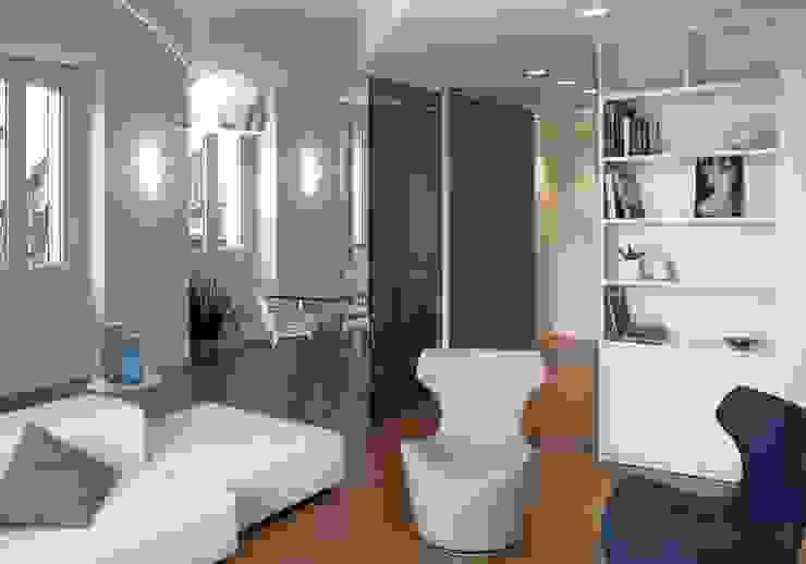 غرفة المعيشة تنفيذ marta novarini architetto,