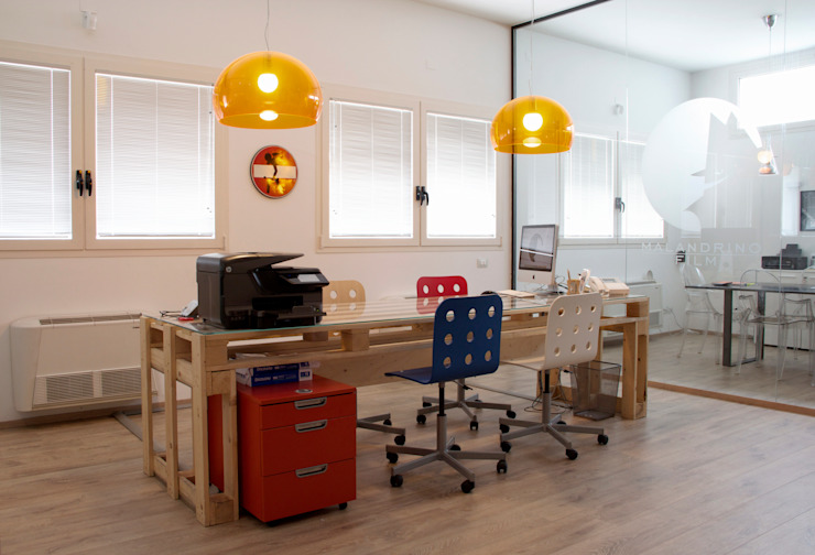 Industrial style study/office by Rosaria Sani Architetto Industrial