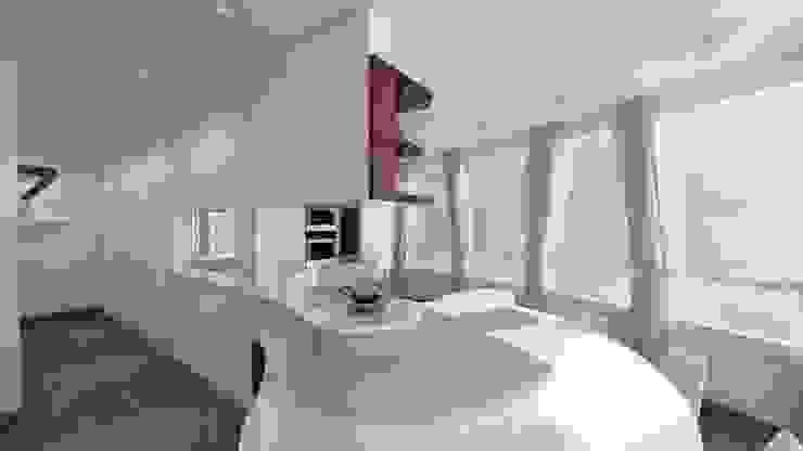 penisola cucina Soggiorno moderno di studiosagitair Moderno